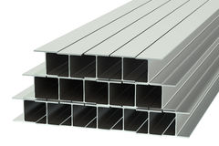 Steel rolled metal H-beam Royalty Free Stock Photos