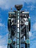 Steel roller coaster Baron vertical drop Stock Photography