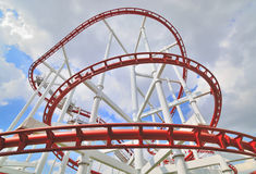 A steel roller coaster Stock Photography