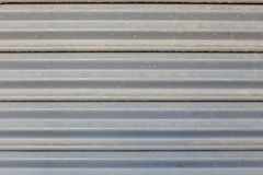 Steel rolling shutter Royalty Free Stock Images