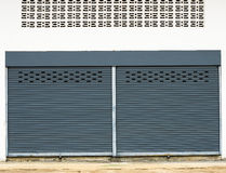 Steel rolling shutter Royalty Free Stock Photo