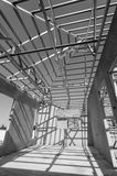 Steel Roof Black and White-10 Stock Image