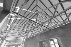 Steel Roof Black and White-11 Stock Image