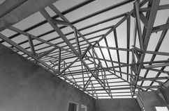 Steel Roof Black and White-12 Stock Photography