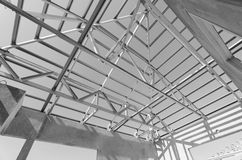 Steel Roof Black and White-14 Royalty Free Stock Images