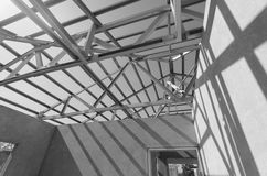 Steel Roof Black and White-15 Royalty Free Stock Images