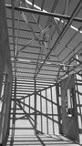 Steel Roof Black and White. Stock Photography