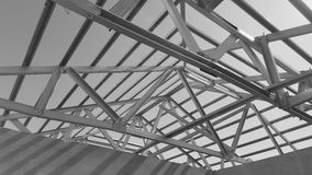 Steel Roof Black and White. Royalty Free Stock Image