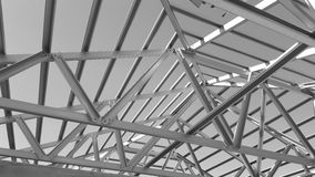 Steel Roof Black and White. Stock Images