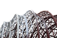Steel roof construction in zoo Royalty Free Stock Photos