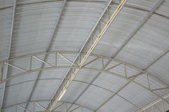 Steel roof of factory Stock Image
