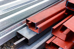 Steel roof for home construction job Royalty Free Stock Image