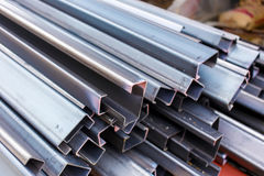 Steel roof for home construction job Royalty Free Stock Photos