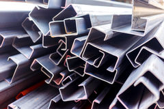 Steel roof for home construction job Royalty Free Stock Photo