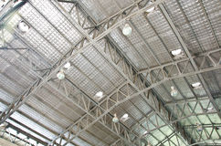 Steel roof structure. Stock Photo