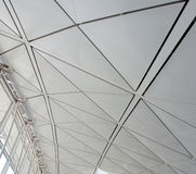 Steel roof structure Stock Images