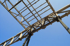 Steel roof structure Stock Photo