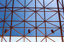Steel roof structure with glass over Royalty Free Stock Image