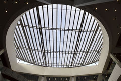 Steel roof structures Stock Photo