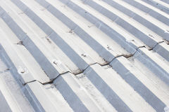 Steel roof. On top of the building Royalty Free Stock Photos