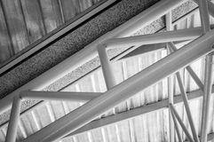 Steel roof truss Stock Image