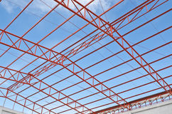 Steel roof trusses Royalty Free Stock Photo
