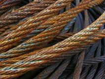 Steel rope. Rusty steel rope in in harbour royalty free stock image