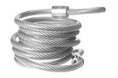 Steel Rope. On White Background Stock Photography