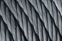 Steel rope. A steel wire cable close up Royalty Free Stock Photography