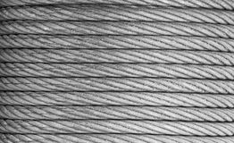 Steel rope background Royalty Free Stock Images
