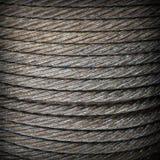 Steel rope background texture. Steel rope close-up square background texture Stock Photo