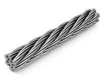 The steel rope Stock Photo