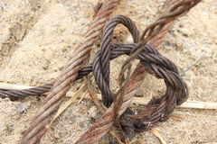 Steel rope of a ship Royalty Free Stock Photos