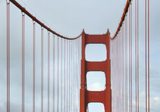Steel ropes of Golden Gate Bridge Royalty Free Stock Images