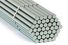 Steel Round Bars Stock Images