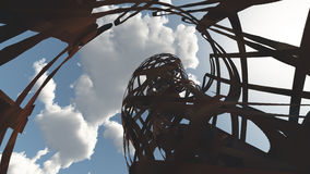 Steel ruins. And blue sky Royalty Free Stock Photography