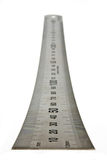 Steel ruler. Royalty Free Stock Photos