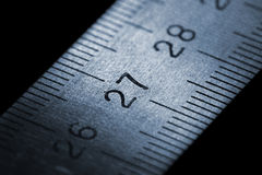 Steel ruler Royalty Free Stock Images