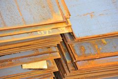 Steel rusty metal sheet Royalty Free Stock Photo