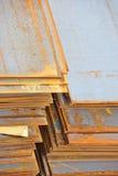 Steel rusty metal sheet Stock Photos