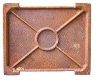 Steel rusty oven door Royalty Free Stock Image
