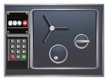 Steel safe. And digital counter vector illustration