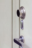 Steel safe door close-up Stock Photos