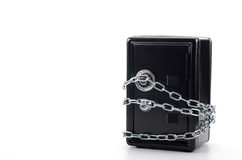 Steel safe with money , money saving concept Stock Images