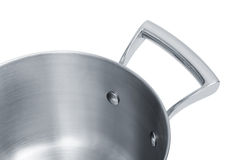 Steel saucepan Stock Photography
