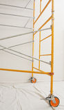 Steel scaffolding assembled indoors Royalty Free Stock Photo