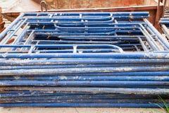 Steel scaffolding , building construction bangkok Thailand Stock Photo