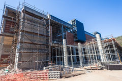 Steel Scaffolding Building Construction Stock Photo