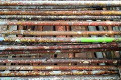 Steel Scaffolding for Construction Royalty Free Stock Photos