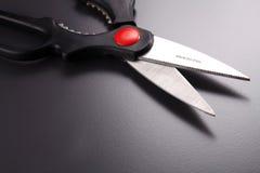 Steel scissors Stock Photo